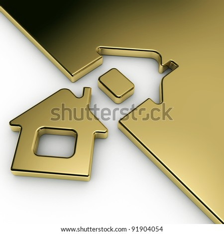 Sign Home as arrow. 3d - stock photo