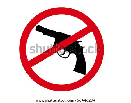 sign indicating that all guns are banned