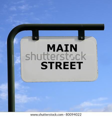 sign main street - stock photo