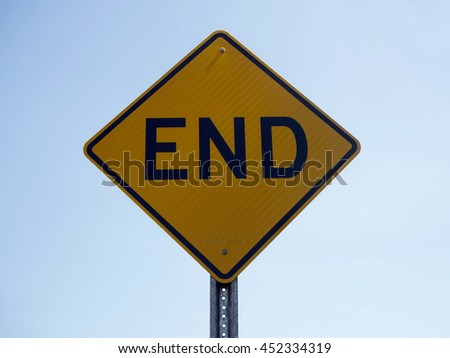 Sign of end
