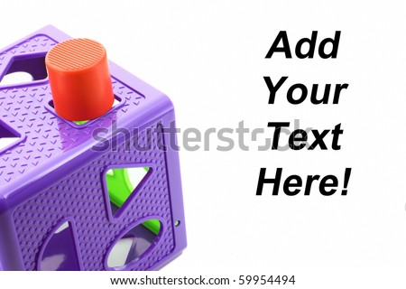 Sign of frustration, confusion and failure isolated on white with space for a text message. - stock photo