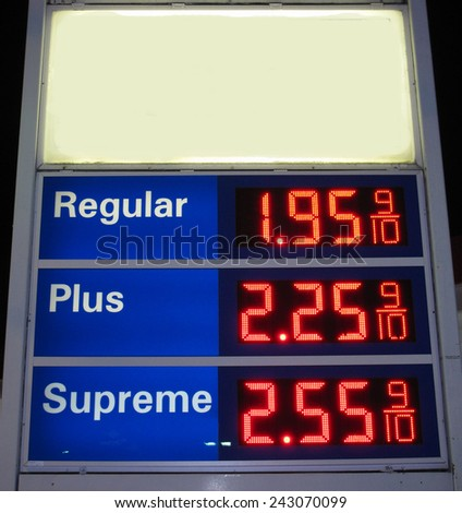 sign of gas prices - stock photo