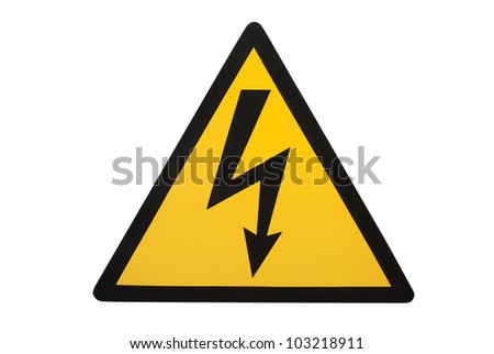 sign of high voltage - stock photo