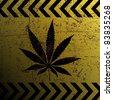 Sign of marijuana - stock photo