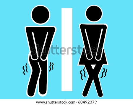 Sign of men and women toilet, rest room - stock photo