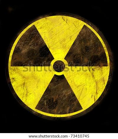 SIgn of radiation - stock photo