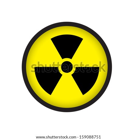 Sign of radioactive - stock photo