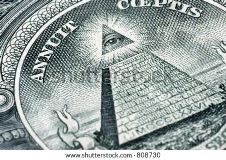 sign on dollar in macro - stock photo