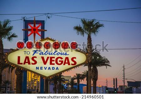 Sign on Las Vegas strip,Nevada - stock photo
