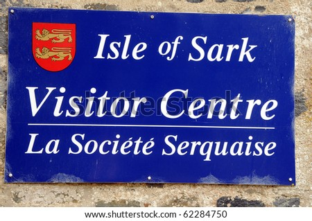 Sign on Sark Visitor Centre