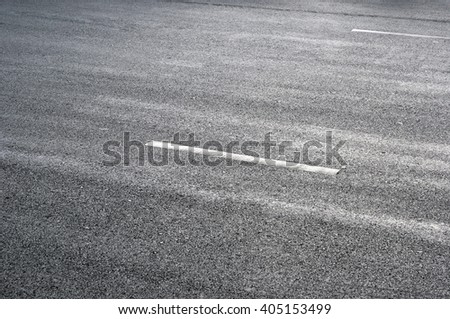 sign on surface of street - stock photo