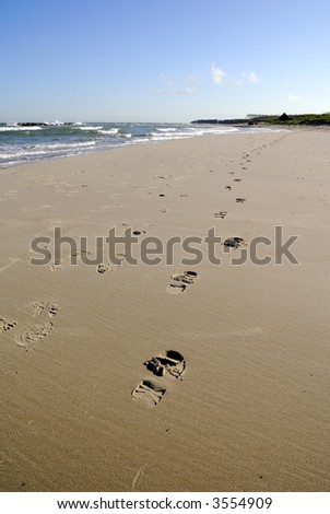 Sign on the sand