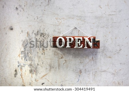 sign on the wall - stock photo