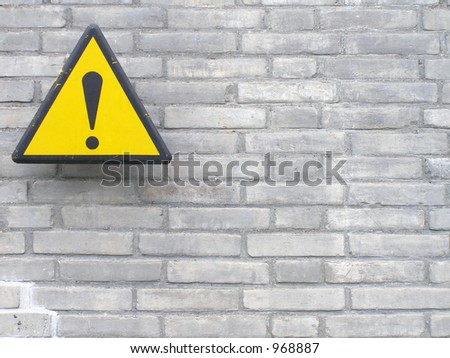 Sign on Wall - stock photo