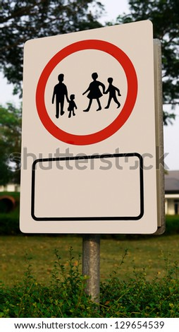 Sign or Symbol of School Zone or Children Zone. - stock photo