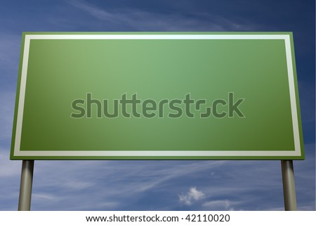 Sign post in front of a blue sky (insert your own text) - stock photo