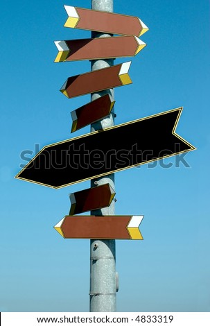 Sign post pointing in all directions