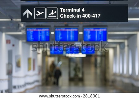 Sign - Terminal, Check In - stock photo