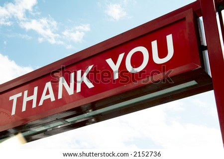 sign THANK YOU - stock photo