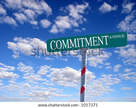 "sign that reads ""Commitment Avenue"""