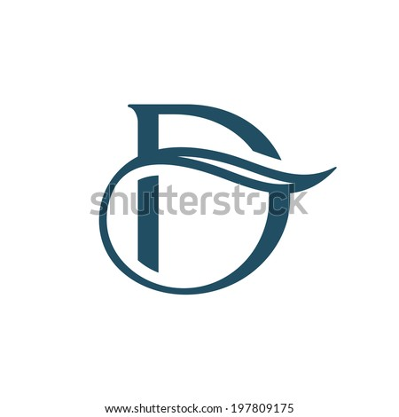 Sign the letter D Branding Identity Corporate logo design template Isolated on a white background - stock photo