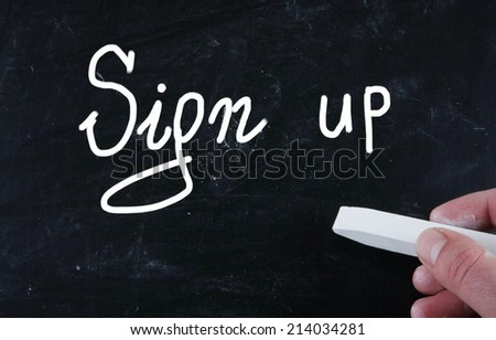 sign up concept - stock photo