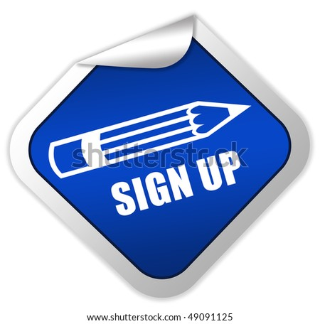 Sign up icon - stock photo