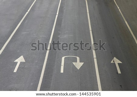 Sign ways, In the journey have may sign for support driver, Direction of some things. - stock photo
