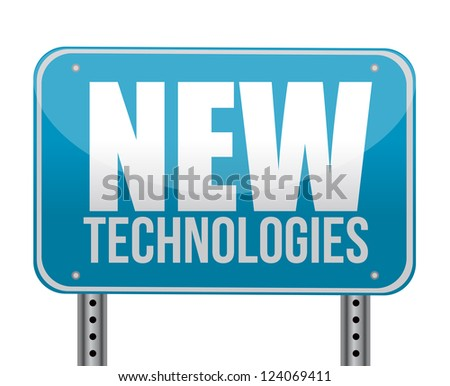 sign with a new technologies concept illustration design