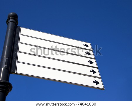 sign with blue sky - stock photo