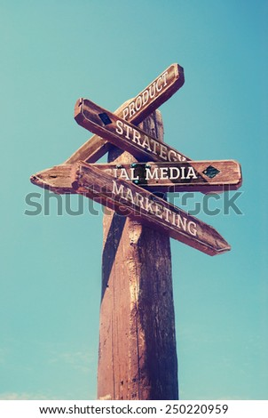Sign with business concepts - stock photo