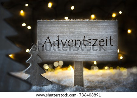 Sign german text adventszeit means advent stock photo royalty free sign with german text adventszeit means advent season white christmas tree with snow and magic m4hsunfo