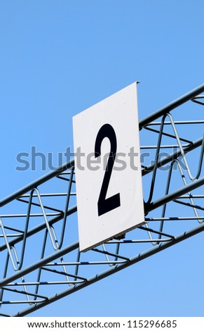 Sign with number 2 - stock photo