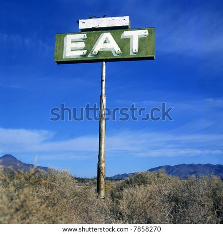 Sign with text EAT