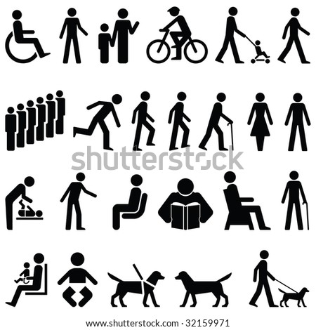 Signage People Graphics - stock photo