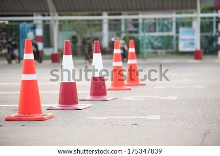 signal cone - stock photo