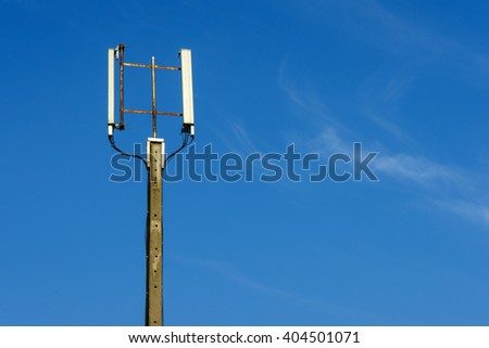 Signal pole in the sky