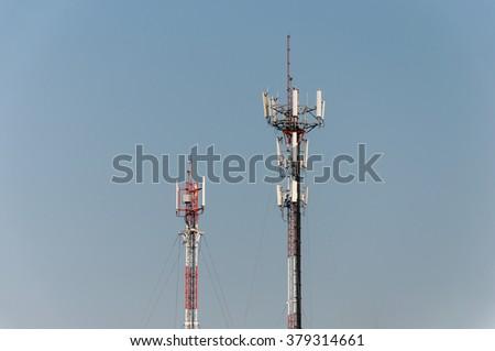 signal tower - stock photo