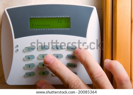 signaling of domestic safety - stock photo