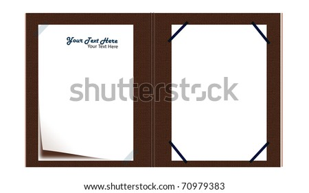 Signature Book - white paper - stock photo