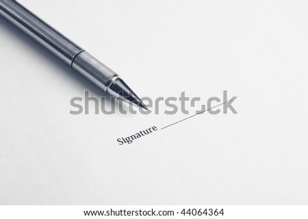 signature here - stock photo