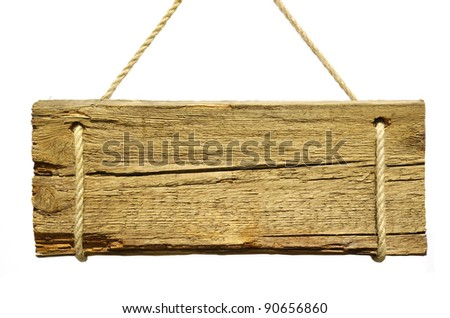 signboard isolated on a white