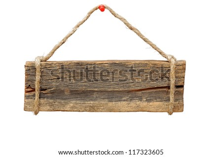 signboard isolated on a white background
