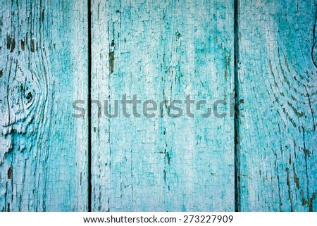 signed by the weather as old blue wood background - stock photo