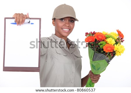 Signed delivery - stock photo
