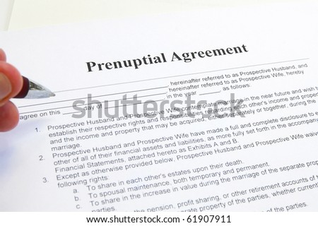 Prenuptial agreement essay