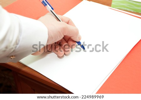 Signing of a clean sheet by the handle