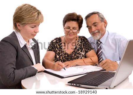 signing of a treaty - stock photo