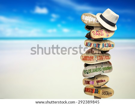 Signpost  - stock photo
