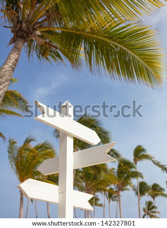 Signpost multiple blank - stock photo